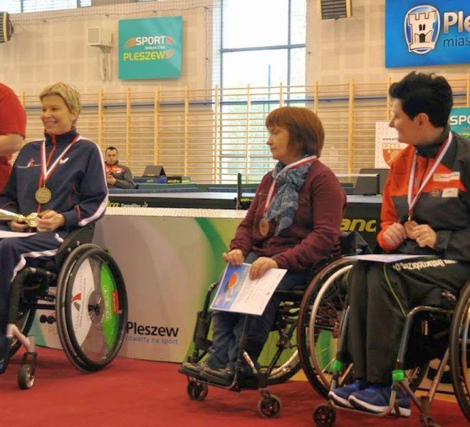 Brązowy medal w singlu Emilia Kotarska 0 w klasie 1-5 (wózki)