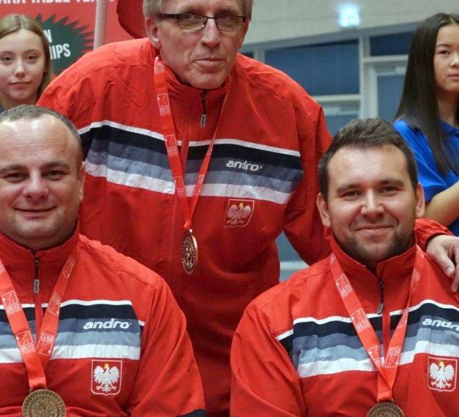 Drużyna klasa 4 brązowy medal ME trener Marek Biernat zaw. Rafał Lis Krzysztof Żyłka