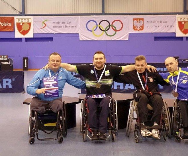 Krzysztof ŻYŁKA złoty medal singiel wózki klasa 4