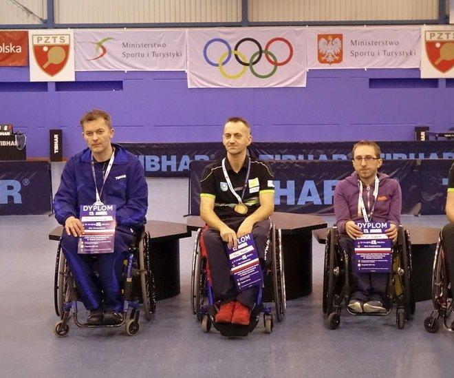 Maciej NALEPKA złoty medal singiel wózki klasa 3 i Janusz CHAMOT brązowy medal singiel wózki klasa 3