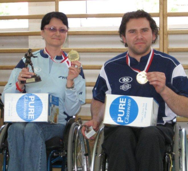 Złoty mikst Emi Kotarska i Krzysiek Żyłka Radom 2007