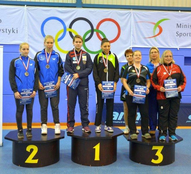 złoty medal Karolina PĘK IKS Katarzyna MARSZAL IKS AWF Warszawa w klasie 6-10