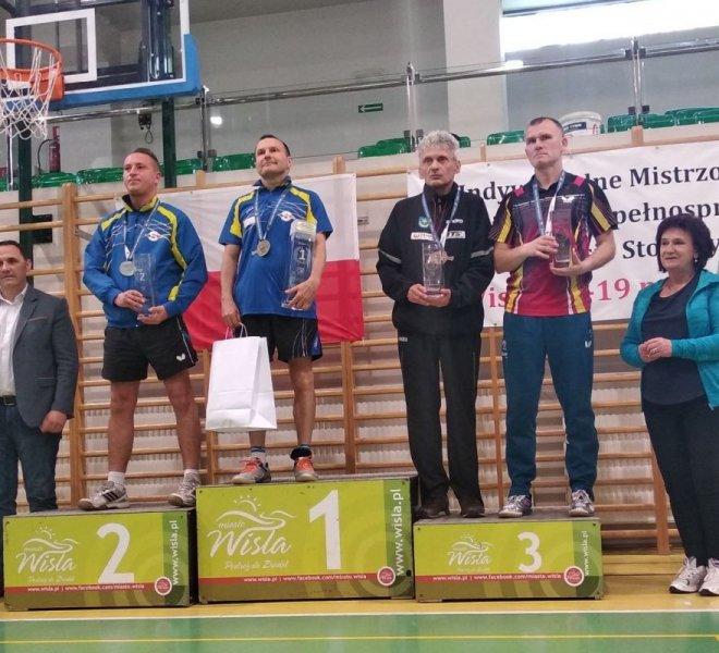 Jerzy Zajdel brązowy medalista w singlu w klasie 11