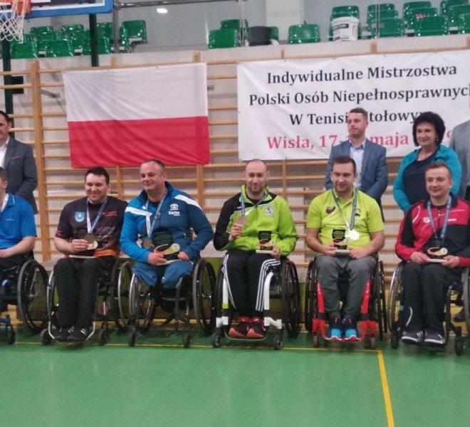Krzysztof Żyłka Mistrz Polski w deblu klasa 4 i Maciej Nalepka Wicemistrz Polski