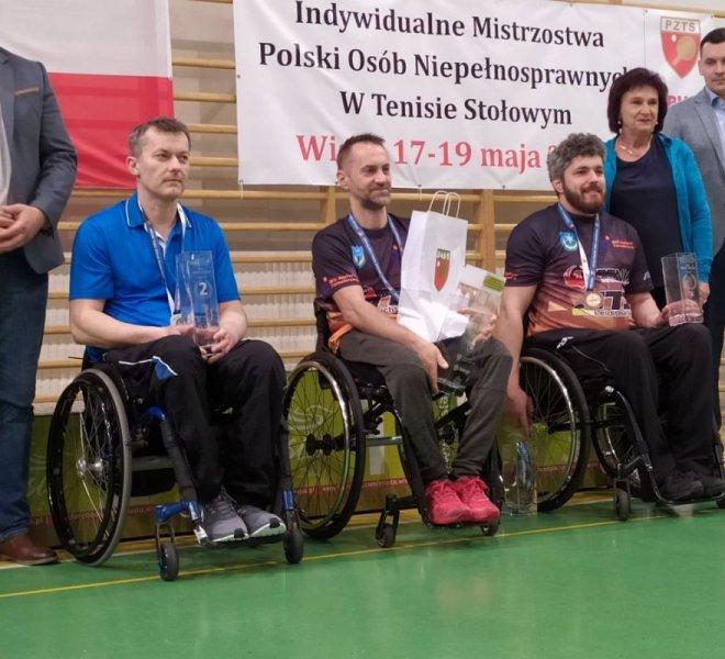 Maciej Nalepka Mistrz Polski i Janusz Chamot brązowy medlista w singlu w klasie 3