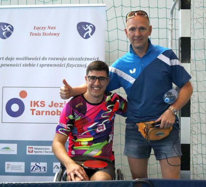 Daniil USTINOV (wózek) START Katowice i trener